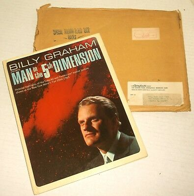 BILLY GRAHAM 1964 MAN IN THE 5TH DIMENSION New York WORLD'S FAIR SOUVENIR exc