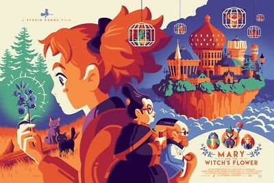 Mondo Mary And The Witch's Flower  Poster Print by Tom Whalen SDCC 2018 Ghibli