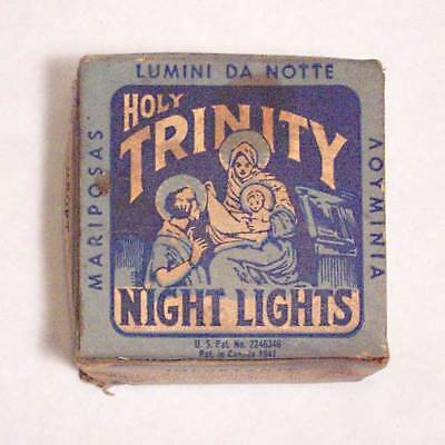 Vintage Holy Trinity Night Lights in the Original Box, Floating Candle Tapers.