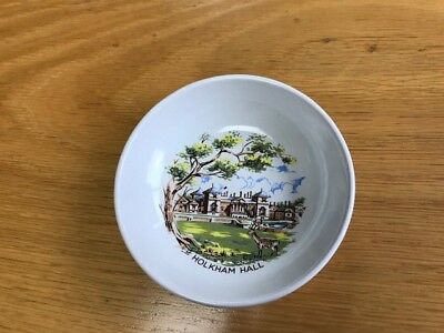 Vintage Collectable Holkham Pottery Pin Dish Holkham Hall VGC