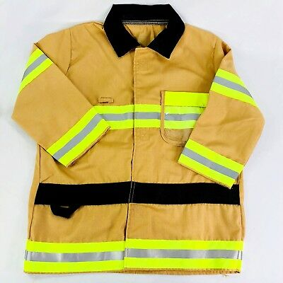 Melissa & Doug Ages 3-6 Kid Fire Dept Role Play Washable Costume Jacket #8889 S1