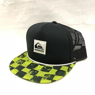 NEW QUIKSILVER TRUCKER Hat Cap Men Women ONE SIZE Black Green SNAPBACK  ShipFREE -  21.85  35851d23cf7