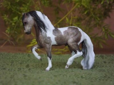 Breyer Stablemate G2 Andalusian Custom as Dapple Rose Gray Pinto American Azteca