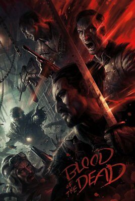"""Call of Duty Black Ops 4 Blood Of The Dead Zombies Poster 11x17"""" 13x20"""" 18x24"""""""