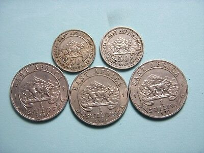 (5) East Africa Coin Lot.