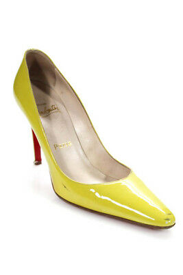 730d7166eff Christian Louboutin Womens Pumps Size 37.5 7.5 Green Patent Leather In Box   475