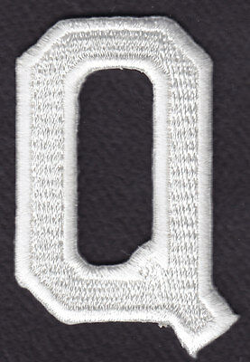"""BLACK BLOCK LETTER /""""Z/"""" LETTERS - Iron On Embroidered Applique Patch 1 7//8/"""""""