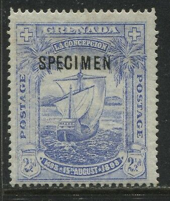 Grenada 1898 2 1/2d ultra overprinted SPECIMEN unused no gum