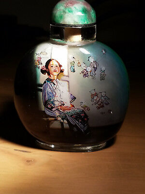 Inside Painted snuff bottle by Shen Yiwei