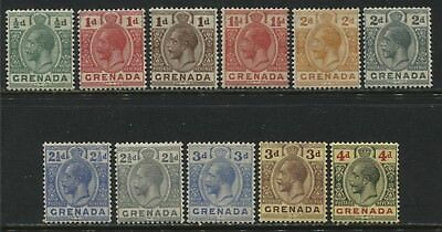 Grenada KGV 1921-26 1/2d to 4d inclusive mint o.g.