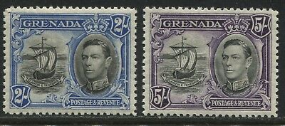 Grenada KGVI 1938 2/ and 5/ unmounted mint NH