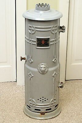 Antique Vintage Cast Iron Lion Brand Water Heater Enclosure Pittsburgh Company