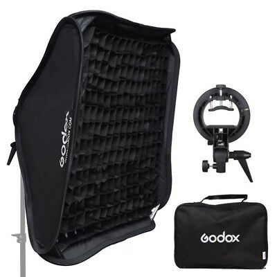 Godox 40x40cm Bowens Mount Softbox with Grid + S-type Bracket For Speedlite