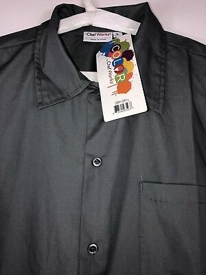 Chef Works Cool Vent Men's Cook Shirts new with tags Size Large