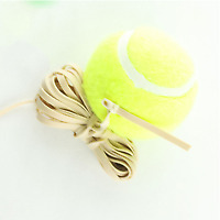 Tennis Ball With Elastic Rubber Rope Beginners Trainer Single Train Tool B48A