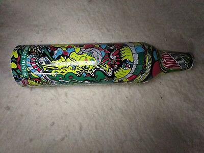 2008 MOUNTAIN DEW ALUMINUM BOTTLE GREEN LABEL ART Awesome design!
