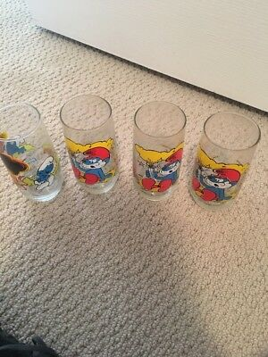 1982 Smurf Collector Glasses