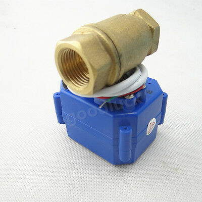 "Motorized Ball Electrical Valve DN20 G3/4"" DC9-24V 2-wire CR04/3-wire CR03"
