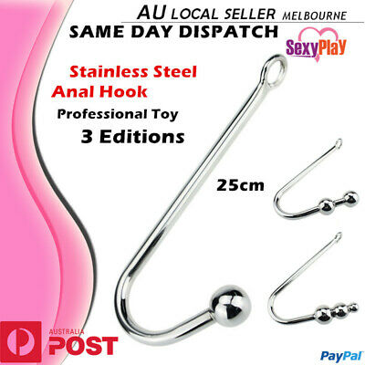 BDSM Anal Hook with Ball Fetish Stainless Steel Metal Bondage Restraint Sex Toy