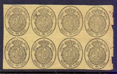 Spain  1855/63  Official Stamps, MH.