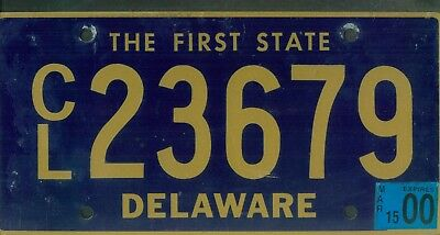 "DELAWARE 2000 license plate ""CL23679"" ***NATURAL***"