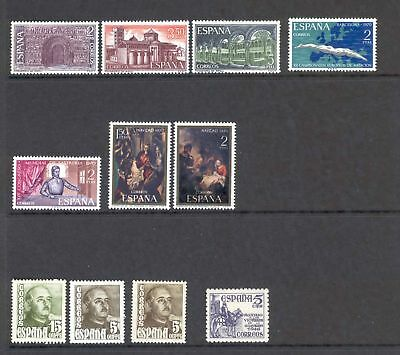 Spain  A Selection of 11 MH stamps