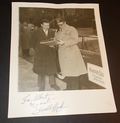 Harold Lloyd Hand Signed Photo....Silent and Sound Film Actor
