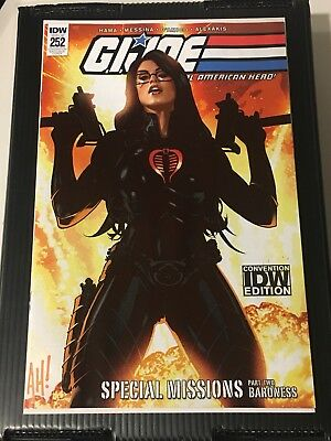 SDCC 2018 IDW Exclusive GI Joe #252 Adam Hughes Baroness Cover LE:500 NM to NM+