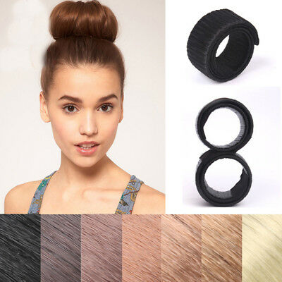 Women Magic Hair Bun Snap Styling Donut Twist Band Former Maker Tool Accessories