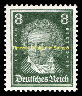 EBS Germany 1926 Famous Germans - Beethoven 8 Pf - Michel 389 MH*