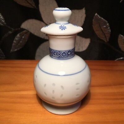 "CHINESE TRADITIONS ""Blue & White"" Small Decorative Ceramic Scent Bottle Ornament"