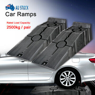 2 Pack Stackable Car Service Ramps 2500kg Load Heavy Duty Car Ramps