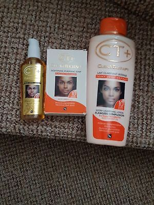 CT+ CLEAR THERAPY EXTRA FAST ACTION  LOTION 500ml SOAP &SERUM RESULTS IN 10 DAYs