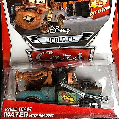 Disney Pixar Cars Modellini: Race Team Mater With Headset Cricchetto