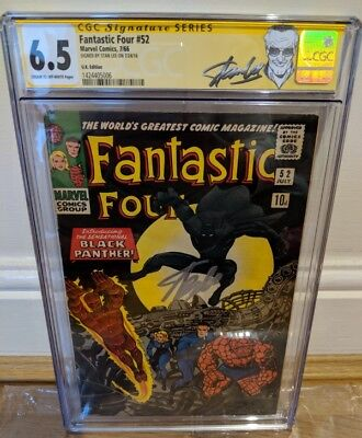 Fantastic Four 52 CGC SS signed by Stan Lee - first appearance of Black Panther