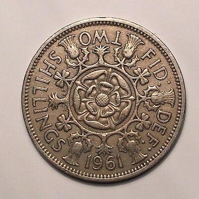 1961 Great Britain Florin, Two Shillings