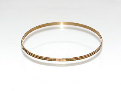 echter goldener Facetten-Armreif 333 Gold Reif Schmuck vintage bangle jewelry