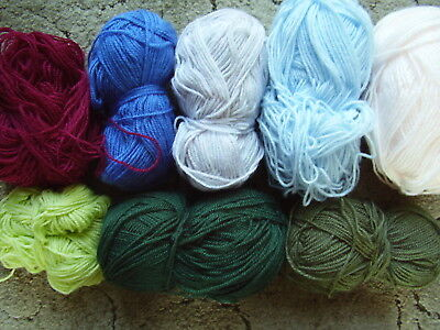 480gms Assorted Balls DK Knitting Wool Various Colours