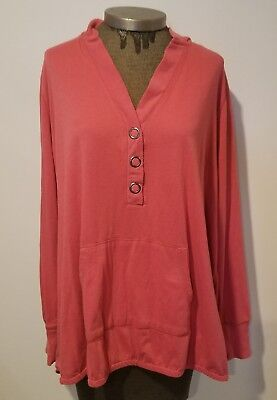 Set of 2 Sonoma coral and pink hooded sweater size 3X