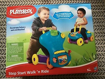 Playskool Baby Step Start Walk N Ride – 2in1 Walker Ride On Car Toy – BNWT