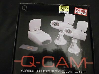 Q-Industries QWC2-72 Wireless Security Camera Sys with 2 Wireless Cameras -Color