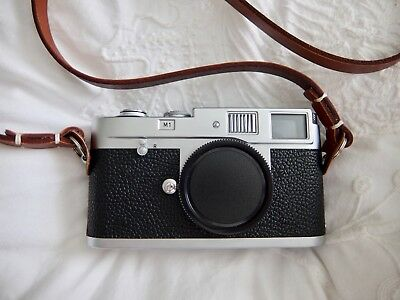 Leica M1 camera body with Canpis Leather strap