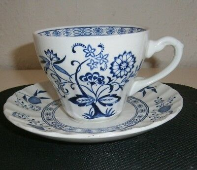 Vintage Classic J&G Meakin Blue Nordic Cup & Saucer