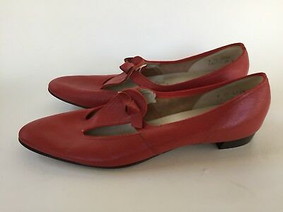 Vintage 50s 60s Red Rockabilly Mod T Strap Mary Jane Shoes Ms Wonderful 9AA GoGo
