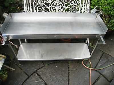 Stainless Steel Commercial  Table  Kitchen Worktop Backsplash pick up liverpool