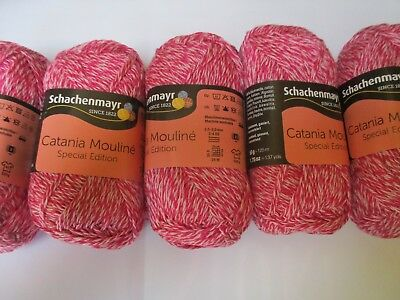 Schachenmayr CATANIA Moulinè Special Edition Cotton Pink Tweed 10 x 50g 500g