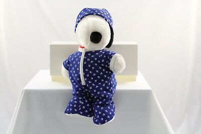 Kohls Cares Peanuts Gang Plush Snoopy with PJs and Hat