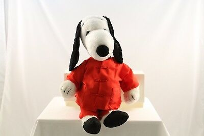 "Vintage 1968 Plush Snoopy Peanuts Dog Stuffed Animal Toy Character 19"" w/ Outfit"