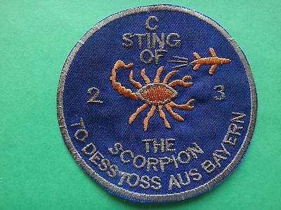 US Army Patch C Company 2nd Bn 3rd Aviation Rgt STING OF THE SCORPION