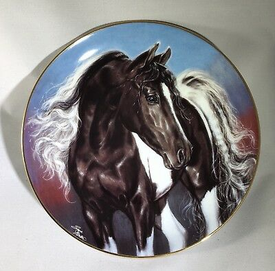 "Danbury Mint Tobiano Horse ""Spirit Wind"" Collectible Plate"